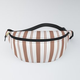 Sherwin Williams Cavern Clay Thick and Thin Vertical Lines Stripes Fanny Pack