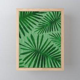 Emerald Retro Nature Print Framed Mini Art Print