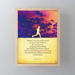 Press On! Framed Mini Art Print