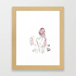 Pink Lemonade Days Framed Art Print