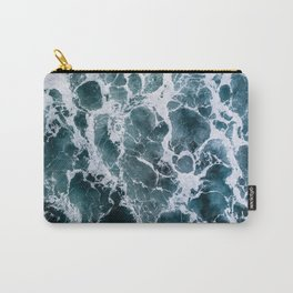 Minimalistic Veins in a Wave  - Seascape Photography Carry-All Pouch