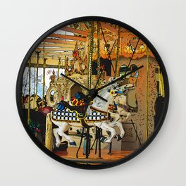 Carousel Magic - Merry-go-Round Wall Clock