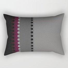 Modern Burgundy Grey Black Stripe Dot Pattern Rectangular Pillow