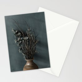 Dried flowers in pot Stationery Cards
