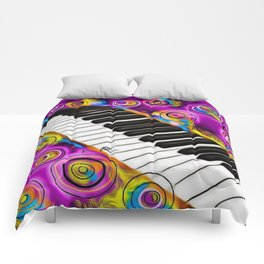 PIANO FLOWS Comforters