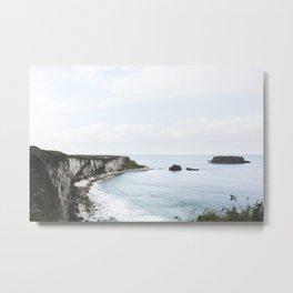 Cliffs + Sea (Two) Metal Print