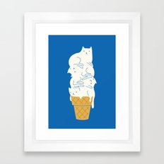 Cats Ice Cream Framed Art Print