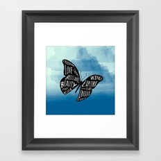 Butterfly Taking Flight Framed Art Print