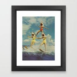 On Evil Beach - Sharks Framed Art Print