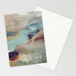 Gentle Beauty [5] - an elegant acrylic piece in deep purple, red, gold, and white Stationery Cards