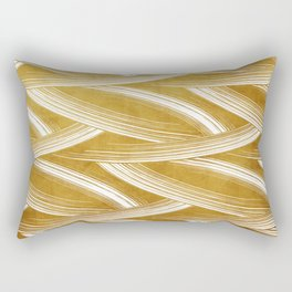 A Chérissent Holiday in Dazzling Gold Rectangular Pillow