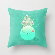A Bouquet of Sins Throw Pillow