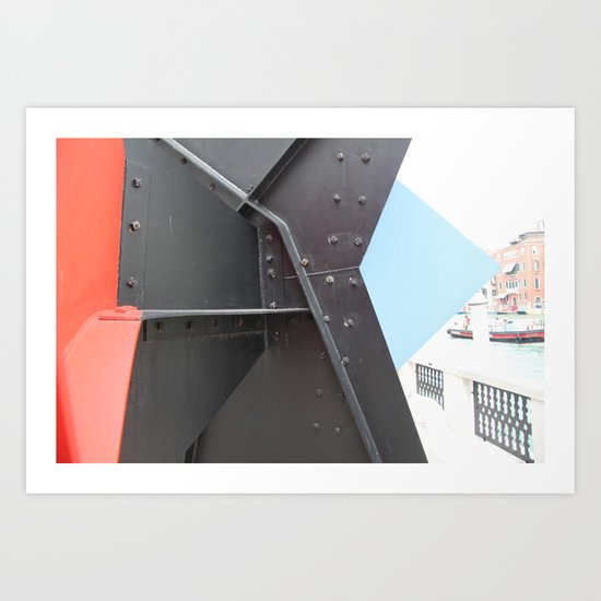 Peggy Guggenheim court yard Art Print