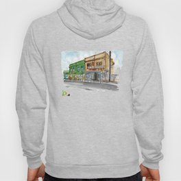 Fidel's cafe on Cuba street Sketch Hoody