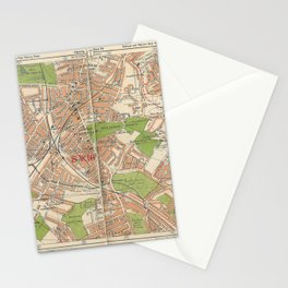 Bacon's Pocket Atlas of London (1921) - 39 Tooting Bec, Lower Streatham, West Norwood Stationery Cards