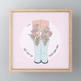 Get Out Of Your Own Way Framed Mini Art Print