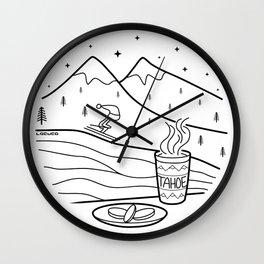 Tahoe 1 - Ski Weather Wall Clock