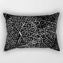 Black and white leaf pattern Rectangular Pillow