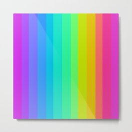 Neon Rainbow Metal Print