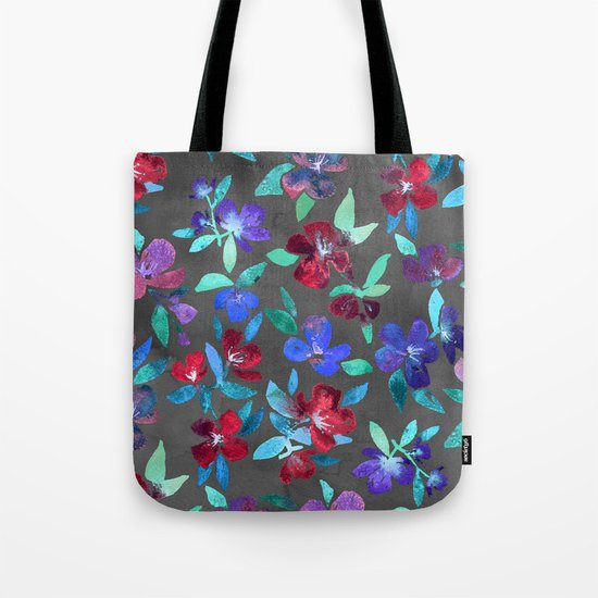 Blossoms in Cherry, Plum and Purple Tote Bag
