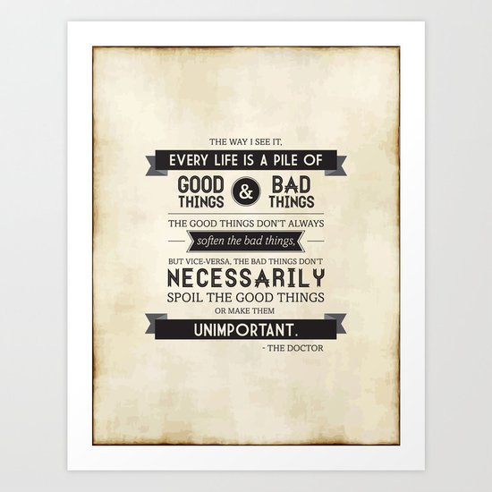 Good Things & Bad Things Art Print