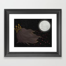 The Queen and the Moon Framed Art Print