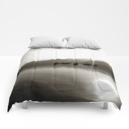 Gulets In Greyscale Comforters