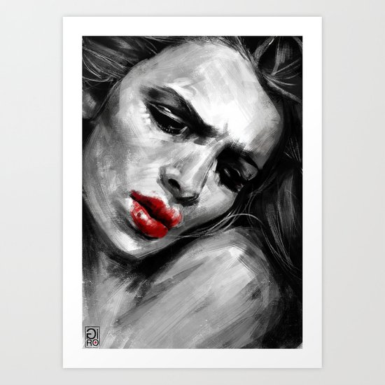 """""""Red Lips Passion"""" Art Print"""