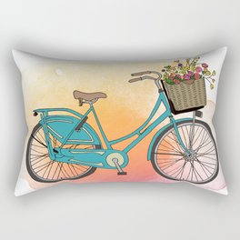 Dutch Bike in Spring Rectangular Pillow