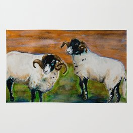 The Rams of Lastingham Rug