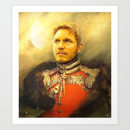 Starlord Guardians Of The Galaxy General Portrait Painting   Fan Art Art Print
