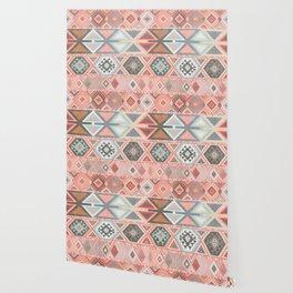 Aztec Artisan Tribal in Pink Wallpaper