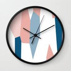Peachy blue 2 Wall Clock