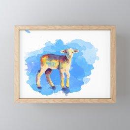 Litte Lamb Framed Mini Art Print