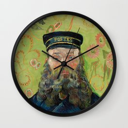 The Postman by Vincent van Gogh Wall Clock