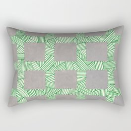 Mondo Grass and Pavers Rectangular Pillow