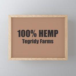 100% Hemp From Tegridy Farms Brown Framed Mini Art Print
