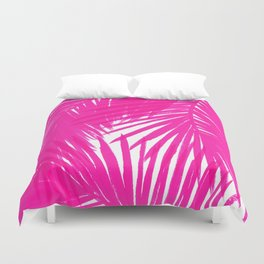 Palms Fuchsia Duvet Cover