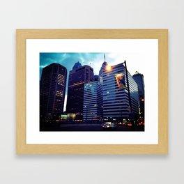 Philadelphia at Night Framed Art Print