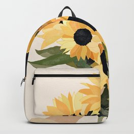 Hand Holding Sunflowers Backpack
