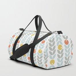 Mid Century Modern Retro Leaf and Circle Pattern Duffle Bag