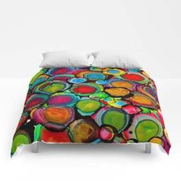 Conscious Overlap (Alcohol Inks Series 03) Comforters
