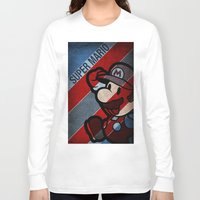 super mario Long Sleeve T-shirts featuring SUPER MARIO by sbsiceland