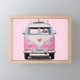 Pug Girly Adventure Framed Mini Art Print