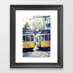 Yellow Lisbon Framed Art Print