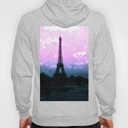 Paris Eiffel Tower : Lavender Teal Hoody