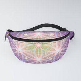 Purple Flower of Life Fanny Pack