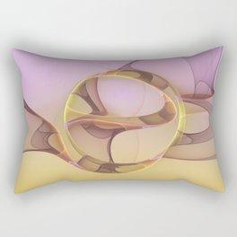 Abstract Motions, Modern Fractal Art Rectangular Pillow