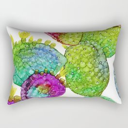 Opuntia 2 - Alcohol Ink Rectangular Pillow