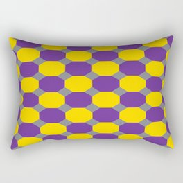 Purple and Yellow Octogons Rectangular Pillow